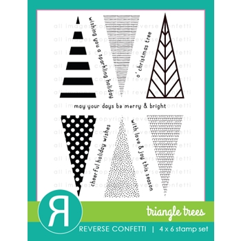Reverse Confetti TRIANGLE TREES Clear Stamps