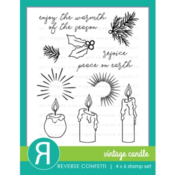 Reverse Confetti CHRISTMAS CANDLES Clear Stamps