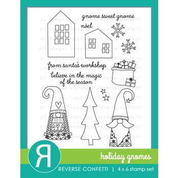 Reverse Confetti HOLIDAY GNOMES Clear Stamps
