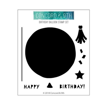 Concord & 9th BIRTHDAY BALLOON Clear Stamp Set 10436