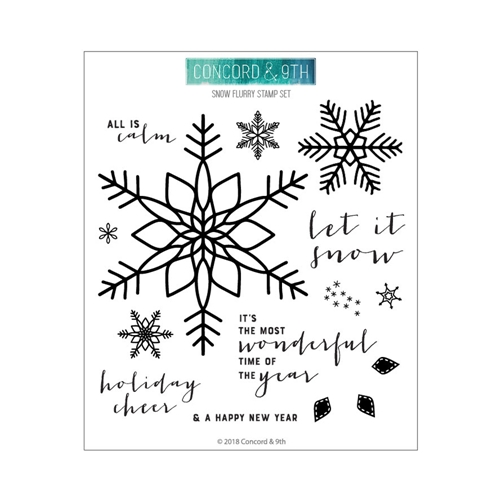 Concord & 9th SNOW FLURRY Clear Stamp Set 10462 Preview Image