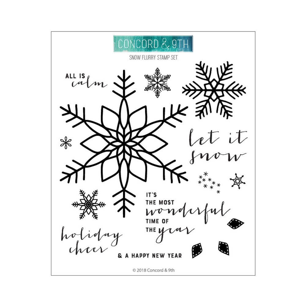 Concord & 9th SNOW FLURRY Clear Stamp Set 10462 zoom image