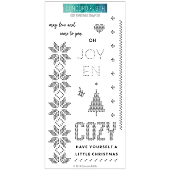 Concord & 9th COZY CHRISTMAS Clear Stamp Set 10468