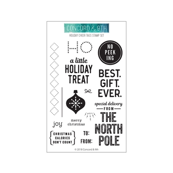 Concord & 9th HOLIDAY CHEER TAGS Clear Stamp Set 10471
