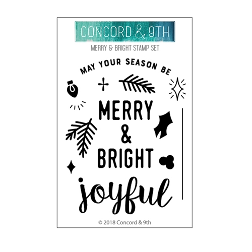 Concord & 9th MERRY AND BRIGHT Clear Stamp Set 10474 Preview Image