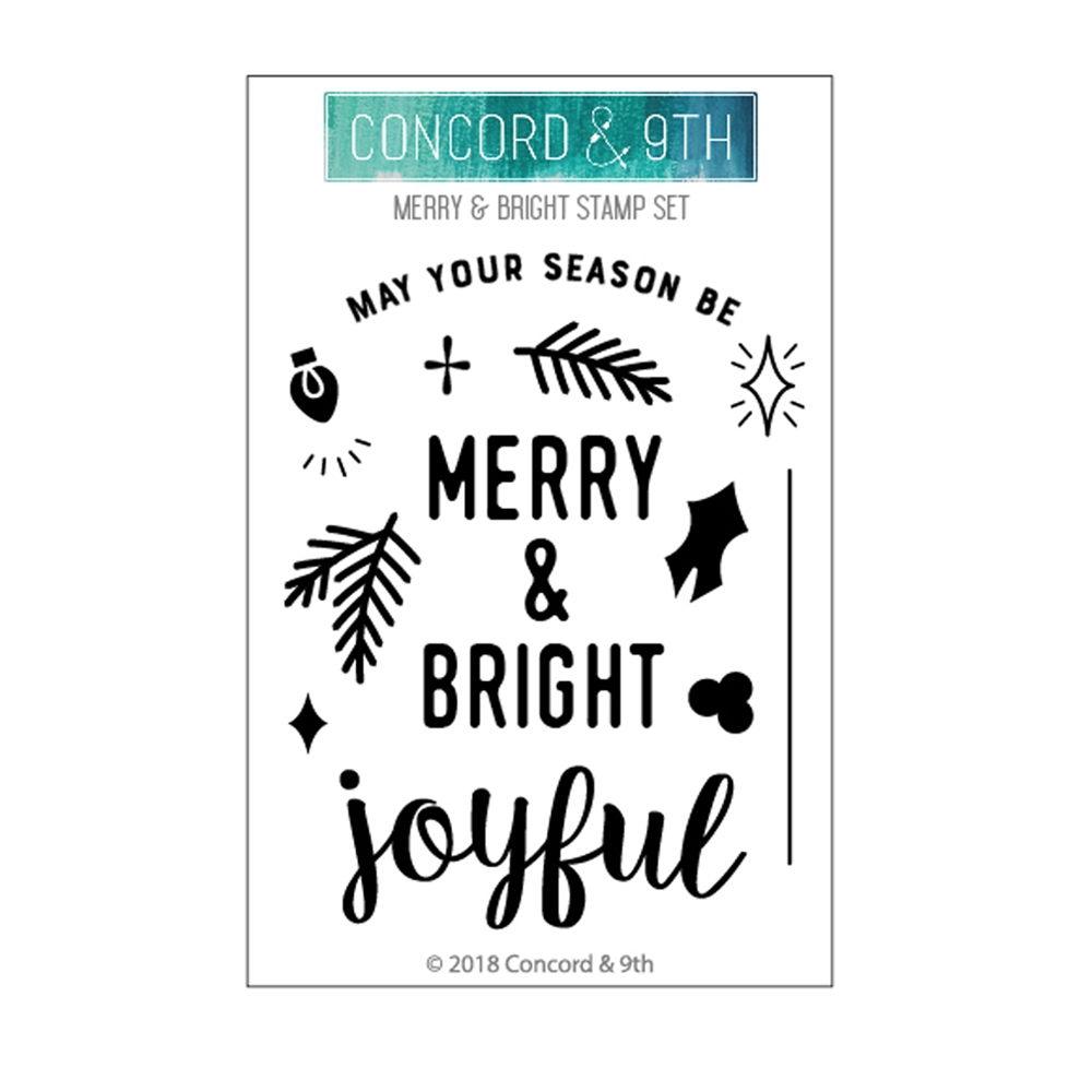 Concord & 9th MERRY AND BRIGHT Clear Stamp Set 10474 zoom image