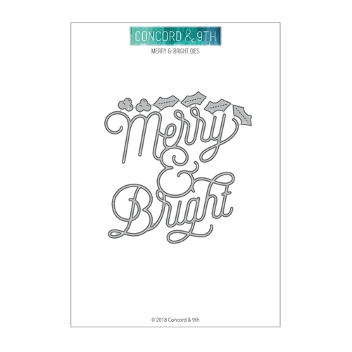 Concord & 9th MERRY AND BRIGHT Die Set 10475 Preview Image