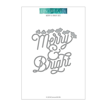 Concord & 9th MERRY AND BRIGHT Die Set 10475