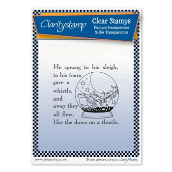Claritystamp TWAS THE NIGHT SNOWGLOBE Clear Stamp stach10618a6