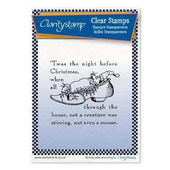 Claritystamp TWAS THE NIGHT SHOE Clear Stamp stach10441a6