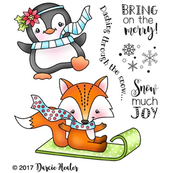 Darcie's SNOW MUCH JOY Clear Stamp Set pol406