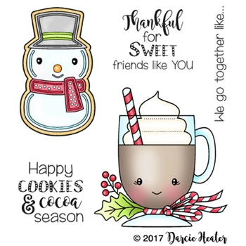 Darcie's SWEET FRIENDS Clear Stamp Set pol407