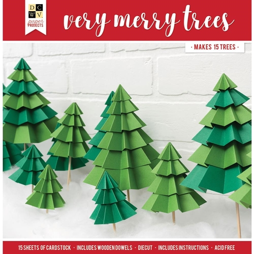 DCWV VERY MERRY TREES Paper Project 614730 Preview Image