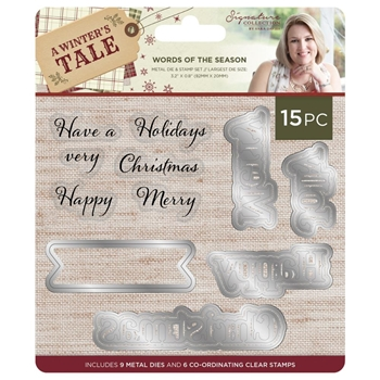 Crafter's Companion WORDS OF THE SEASON A Winter's Tale Stamp & Die Set s-awt-mds-wots