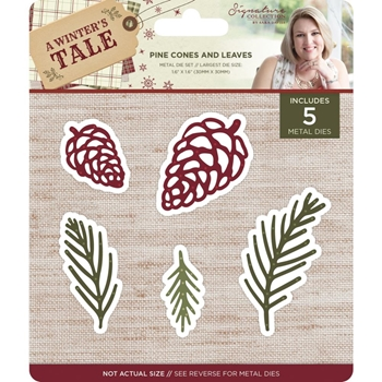 Crafter's Companion PINE CONES & LEAVES A Winter's Tale Metal Die s-awt-md-pcal