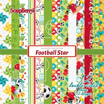 ScrapBerry's FOOTBALL STAR 6 x 6 Paper Pack scb1309x