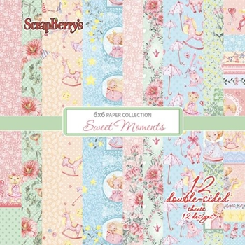 ScrapBerry's SWEET MOMENTS 6 x 6 Paper Pack scb5481x
