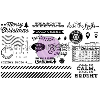 Purple Onion Designs THIS IS DECEMBER Cling Stamps pod9002