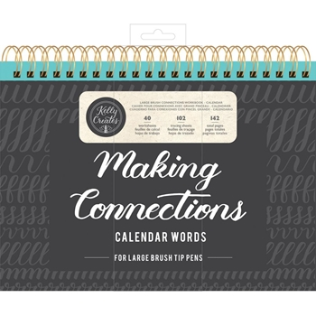 Kelly Creates LARGE BRUSH CALENDAR WORDS Workbook 348280kc