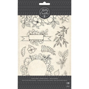 Kelly Creates FLORAL Clear Stamps 348275