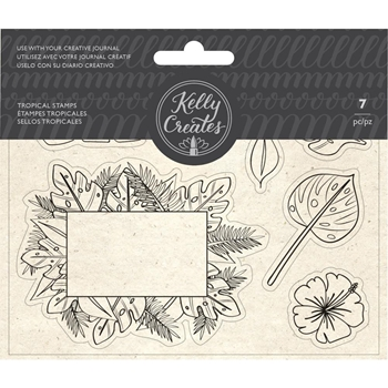 Kelly Creates TROPICAL Clear Stamps 348278