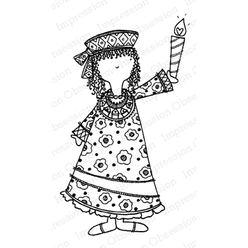 Impression Obsession Cling Stamp KWANZAA GIRL F19870