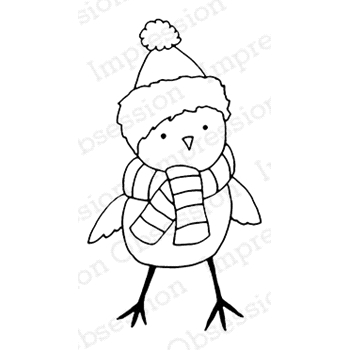 Impression Obsession Cling Stamp LITTLE BIRDIE C7989
