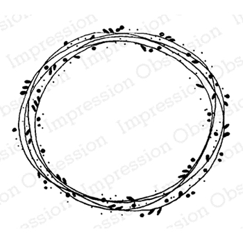 Impression Obsession Cling Stamp LAUREL WREATH D19862