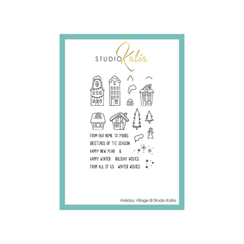 Studio Katia HOLIDAY VILLAGE Clear Stamps stks066