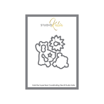 Studio Katia KOBI THE SUPER BEAR Coordinating Dies stk089