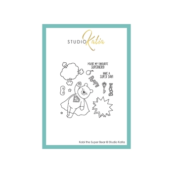 Studio Katia KOBI THE SUPER BEAR Clear Stamps stks064