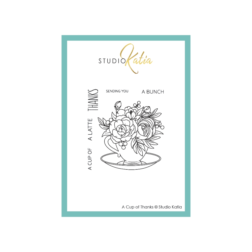 Studio Katia A CUP OF THANKS Clear Stamps stks069 zoom image
