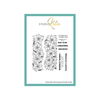Studio Katia POINSETTIA TRIMMINGS Clear Stamps stks067