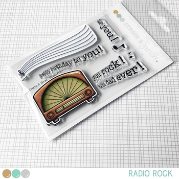 Create A Smile RADIO ROCK Clear Stamps clcs87