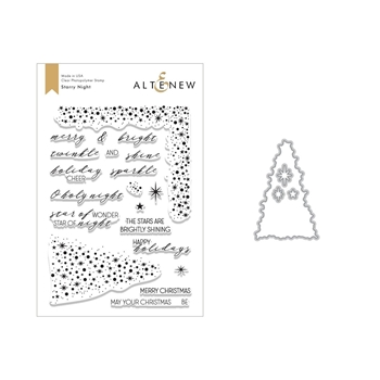 Altenew STARRY NIGHT Clear Stamp and Die Bundle ALT2637