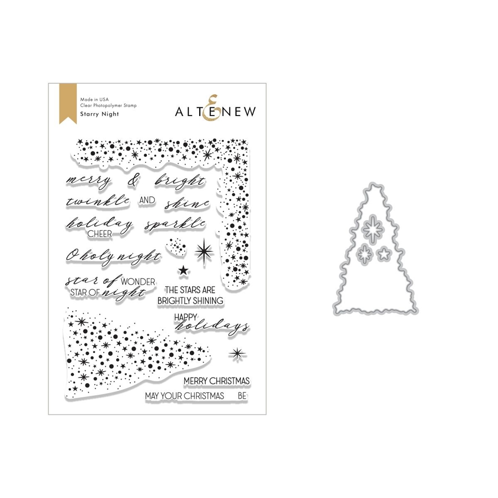 Altenew STARRY NIGHT Clear Stamp and Die Bundle ALT2637 zoom image