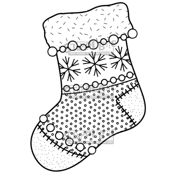Stamplistic Cling Stamp STOCKING j180706