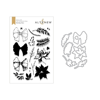Altenew HOLIDAY BOW Clear Stamp and Die Bundle ALT2636