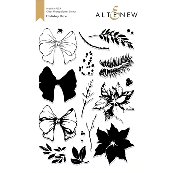 Altenew HOLIDAY BOW Clear Stamps ALT2625