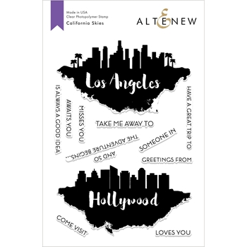 Altenew CALIFORNIA SKIES Clear Stamps ALT2618