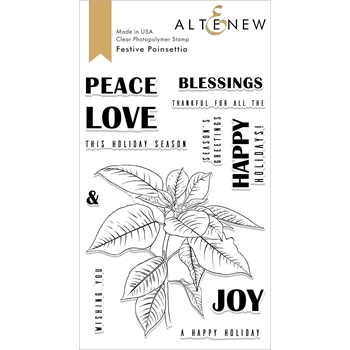 Altenew FESTIVE POINSETTIAS Clear Stamps ALT2621
