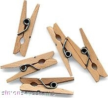 Hero Arts 25 LITTLE CLOTHESPINS Clothes Pins ch114 zoom image