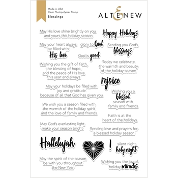 Altenew BLESSINGS Clear Stamps ALT2616