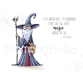 Stamping Bella Cling Stamp ODDBALL WIZARD eb726