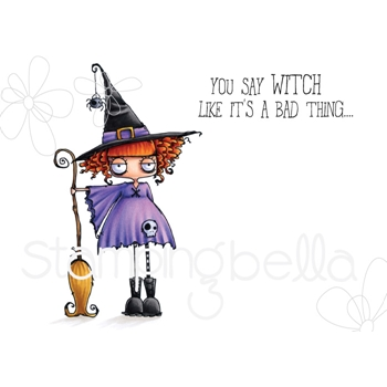 Stamping Bella Cling Stamp ODDBALL WITCH eb723