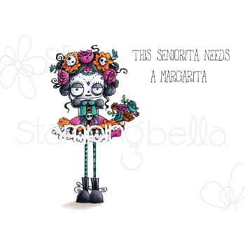 Stamping Bella Cling Stamp DAY OF THE DEAD ODDBALL eb731
