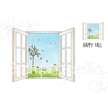 Stamping Bella Cling Stamp FALL WINDOW eb741