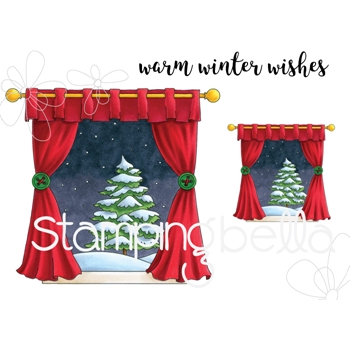 Stamping Bella Cling Stamp WINTER WINDOW eb742