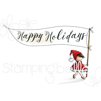 Stamping Bella Cling Stamp HAPPY HOLIDAYS TEENY TINY TOWNIE eb748