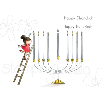 Stamping Bella Cling Stamp TEENY TINY TOWNIE HAPPY CHANUKAH eb749